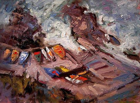 Cinque Terre boat launch by R W Goetting