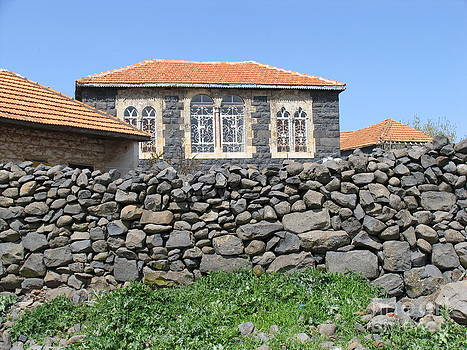 Circassian village in Golan by Issam Hajjar
