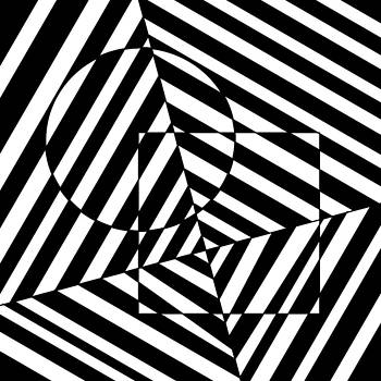 Circle and Square Optical Illusion by Casino Artist