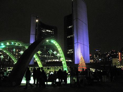 Alfred Ng - city hall lights up