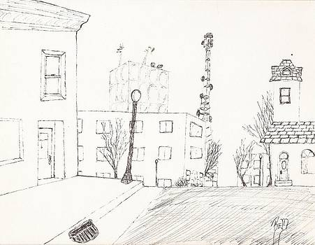 City Street - Sketch by Robert Meszaros