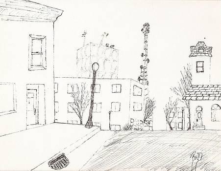 Robert Meszaros - city street - sketch