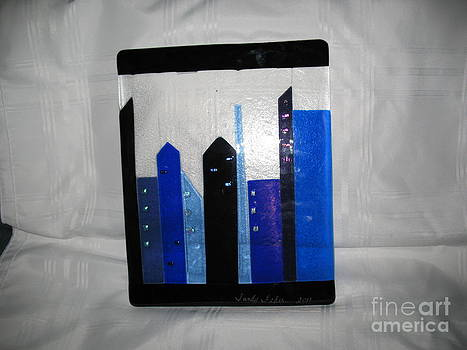 CityScape in Blue by Sandy Feder