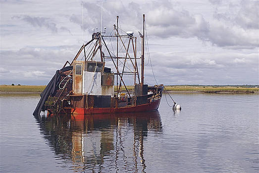 Clam Boat on the Mooring by Paul Donovan