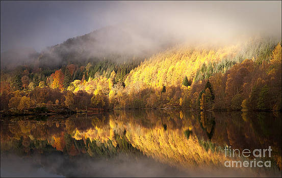 Clearing Autumn Mists Loch Tummel by George Hodlin