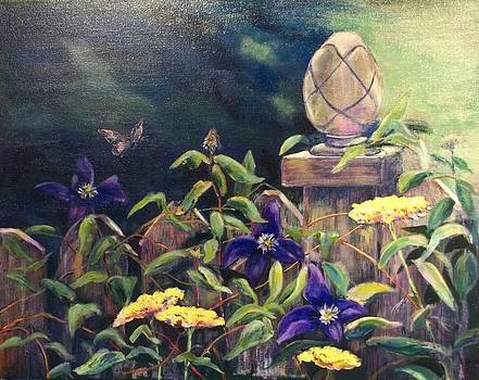 Clematis and Yarrow by Carol Kable