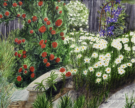 Climbing Roses and Daisies by Gail Darnell