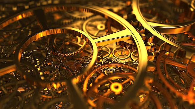 Clockworks and gears by Rimantas Vaiciulis