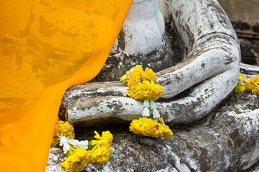 Closeup buddha image of the Buddha by Kobchai Sukruean