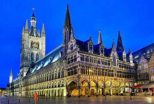 Cloth maker hall Ypres Belgium by Travel Images Worldwide