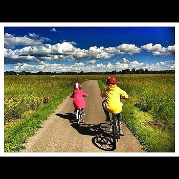 #cloudporn #kids #biking #sky #nature by Ange Exile DuParadis