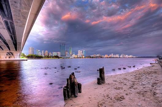 Cloudy Perth at Dusk by Boyd Nesbitt