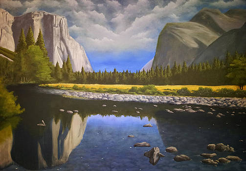 Cloudy Yosemite Valley by Justin  Dobbs