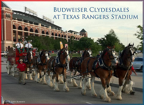 Clydesdales at the Ball Park by Jody Roberts