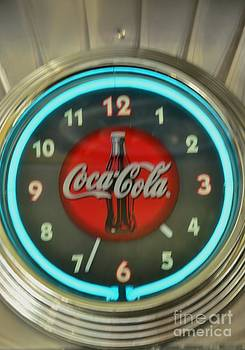 Coca Cola Clock by Kathleen Struckle