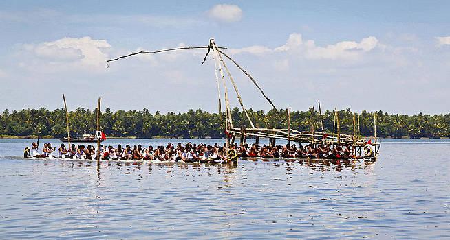 Kantilal Patel - Cochin Boat Race Start Line