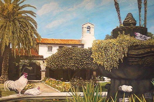 Cock of the walk - Mission San Juan Capistrano by Joemar Sanchez