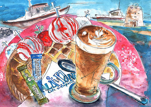 Miki De Goodaboom - Coffee Break in Elounda in Crete