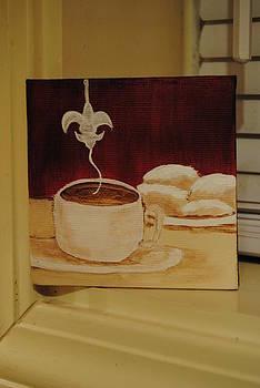 Coffee Fleur De Lis by Deni Morace