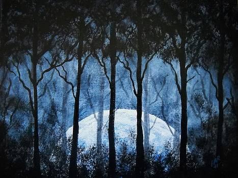 Cold Morning Moon by Edwin Alverio