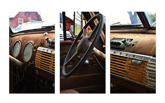 Collage of Old Chevrolet by Susan Leggett