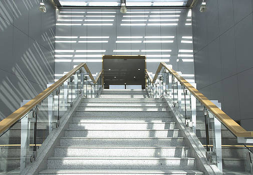 College Building Steps by Guang Ho Zhu