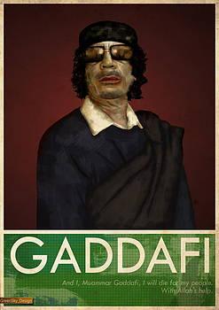 Colonel Gaddafi by Mark Anderson