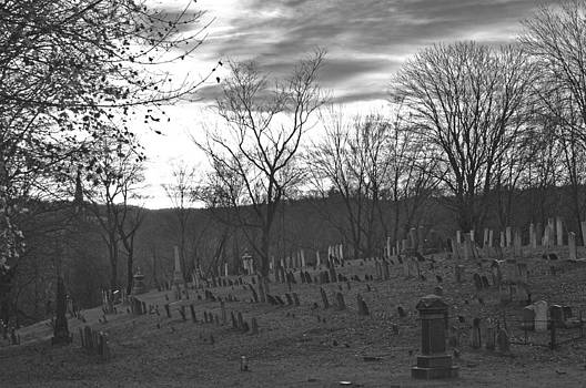 Colonial Cemetery Black and White by Peter  McIntosh
