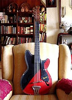 color guitar by artist RJ Williams by Rj Williams