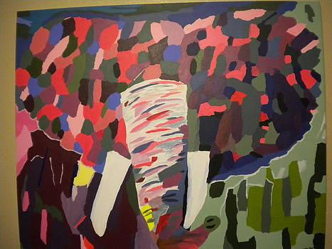 Colorful Elephant by Cristina Palmer