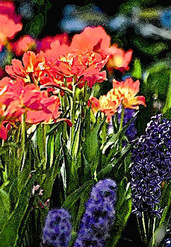 Colorful Flower Watercolor by Michael Austin