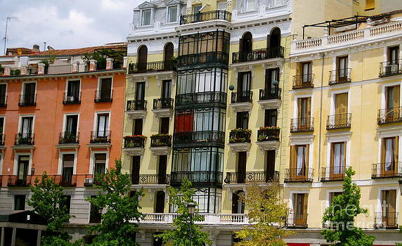 Colorful Madrid Buildings by Polly Villatuya