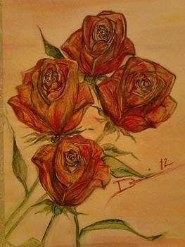 Colorful Roses by Denise Tanaka