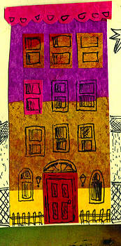 Colorful Rowhouse by Nancy Mitchell