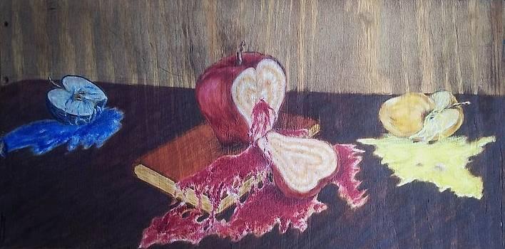 Coloring apples by John Fierro