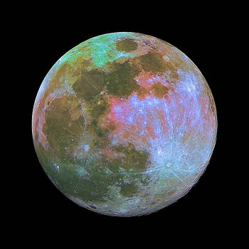 Colors of the moon by Andre Van der Hoeven