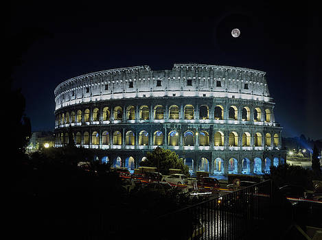 Colosseum at night by Steve Bisgrove