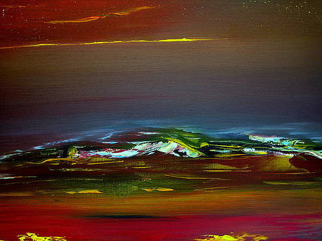 Colourful mountain by David Hatton