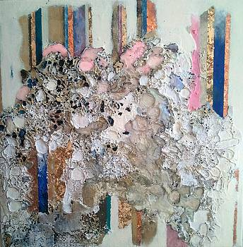 Columns and order rendered into sea of chaos by Lynda Stevens