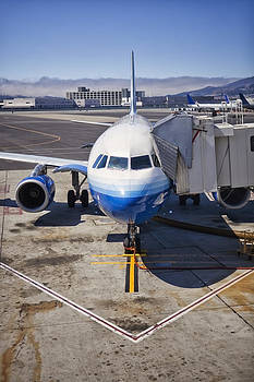 Commerical Airliner At Gate San by Bryan Mullennix