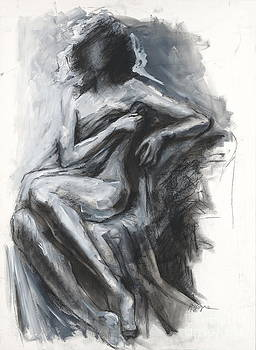 Concealed Woman with Drapery by Kristina Laurendi Havens