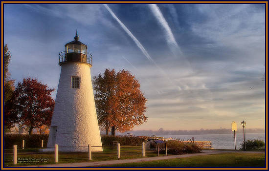 Concord Pt. Lighthouse in the Fall by Ben Michalski
