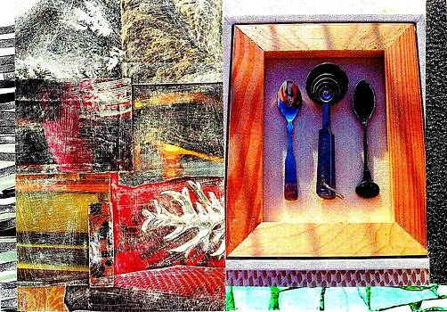 Contrasting Spoons by Jann Sage