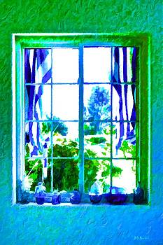 Cool Blue Window by Brian D Meredith
