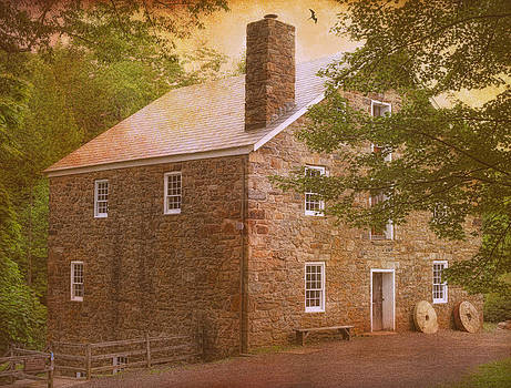 Cooper's Mill In Pastels by Pat Abbott