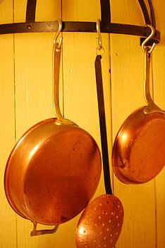 Copper Pans by Peter  McIntosh