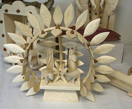 Elizabeth Rose - Cordova New Mexico Nativity Carving