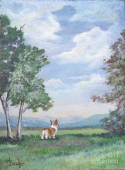 Corgi Mountain View by Ann Becker