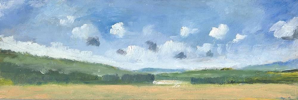 Cornfields near Brading by Alan Daysh