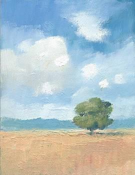 Cornfields with Oak tree by Alan Daysh
